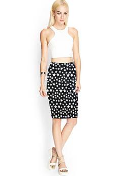 Трикотажная юбка со звездами Kokette со скидкой