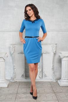 Голубое платье с карманами Angela Ricci со скидкой
