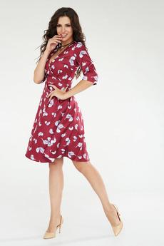Платье с рисунком перья Angela Ricci со скидкой