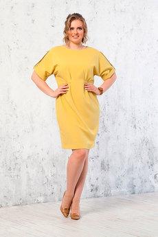 Платье горчичного цвета Angela Ricci