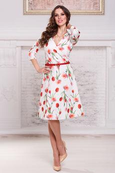 Платье с тюльпанами Angela Ricci