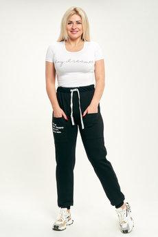 Женские черные спортивные брюки Трикотажница