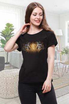 Черная футболка с тигром Brosko