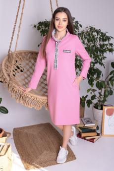 Пудровое платье в спортивном стиле ElenaTex